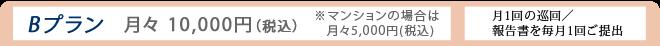 Bプラン:月々10,000円(税込)